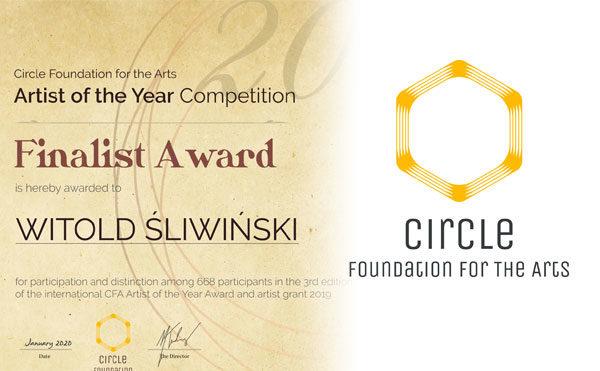 """Wyróżnienie w III edycji konkursu  """"Artist of the Year""""  Circle Foundation"""