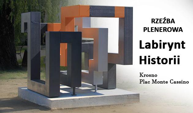 """Labirynt historii"" na Placu Monte Cassino w Krośnie"
